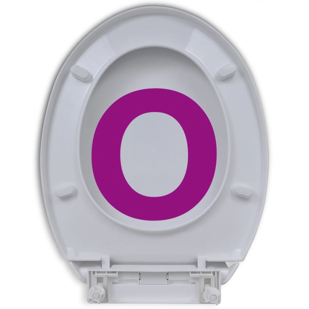 vidaXL Toiletbril soft-close wit ovaal