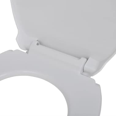 vidaXL Toiletbril soft-close wit ovaal[5/7]