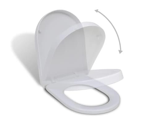 vidaXL Toiletbril soft-close wit vierkant[1/7]