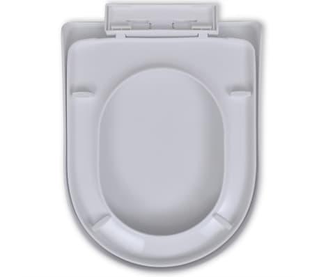 vidaXL Toiletbril soft-close wit vierkant[5/7]