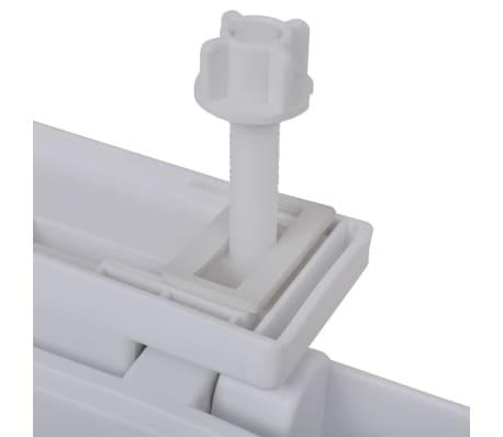 vidaXL Toiletbril soft-close wit vierkant[6/7]