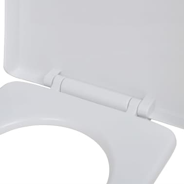 vidaXL Toiletbril soft-close wit vierkant[5/7]