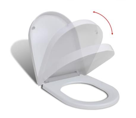vidaXL Klozeto sėdynė su Soft Close mechanizmu, kvadrato formos, balta[2/8]