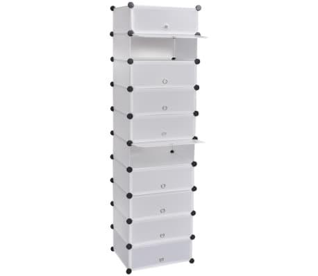 Handla Sko-organiser med 10 fack vit 47 x 37 x 172 cm  5af37410b972e