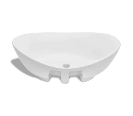 Luxury Ceramic Basin Oval with Overflow and Faucet Hole[5/7]