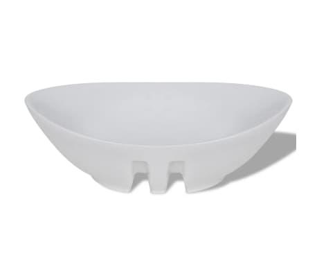"""Luxury Ceramic Basin Oval with Overflow 23.2"""" x 15.1""""[5/7]"""