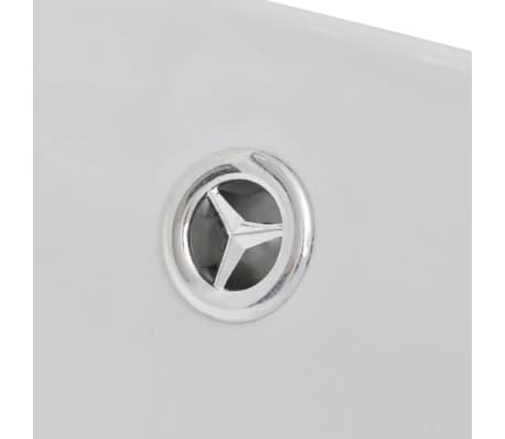 """Luxury Ceramic Basin Oval with Overflow 23.2"""" x 15.1""""[6/7]"""