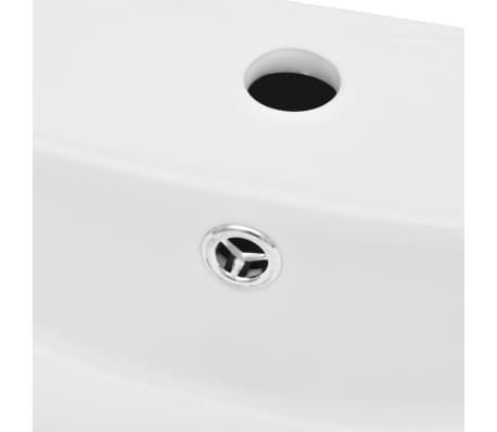 Luxury Ceramic Basin Rectangular with Overflow and Faucet Hole[3/8]