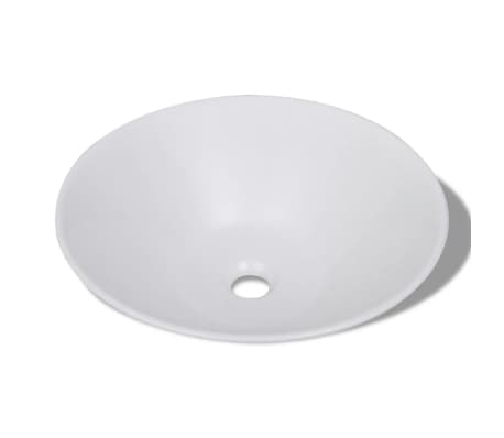 Bathroom Porcelain Ceramic Sink Art Basin Bowl White[3/5]