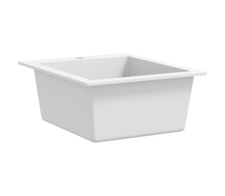 vidaXL Įleidžiama virtuvės plautuvė, granitas, kreminės sp.[3/3]