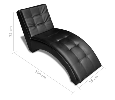 vidaXL Chaise Longue with Pillow Artificial Leather Black | vidaXL on leather chaise lounge, leather mirrors, leather books, leather daybed, leather benches, leather curtains, leather sectionals, leather bean bags, leather stools, leather pillow, leather loveseat, leather leather, leather sofas, leather beds, leather chaise chaise, leather chair, leather dresser, leather fabric, leather bedroom, leather couch,