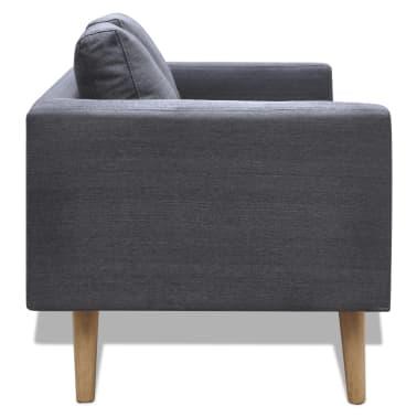 vidaXL Sofa 2-Seater Fabric Dark Grey[2/5]