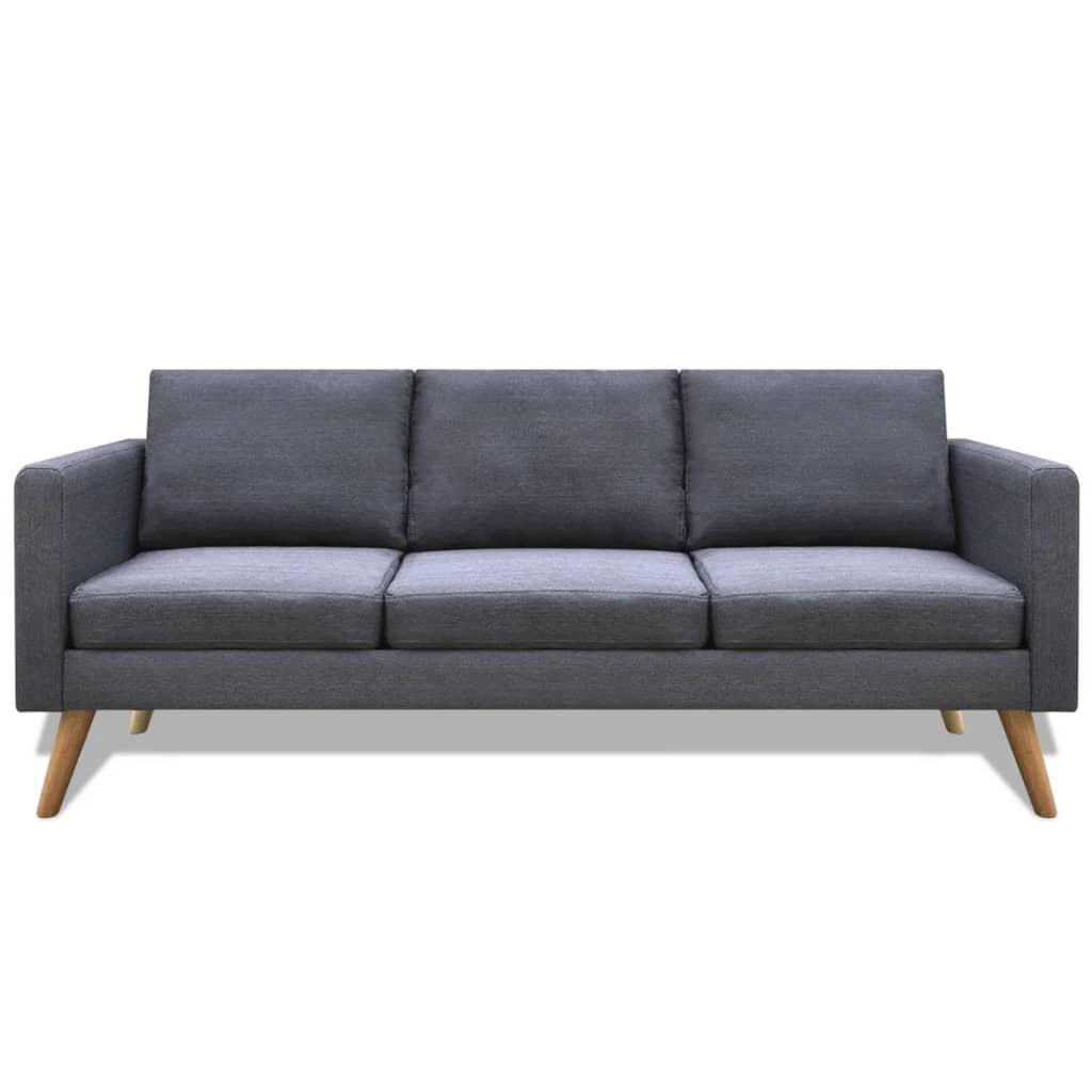 99242221 Sofa 3-Sitzer Stoff Dunkelgrau