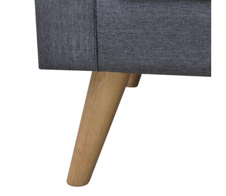 vidaXL Sofa 3-Seater Fabric Dark Grey[4/5]