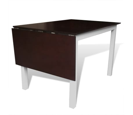 set table et 6 chaises marron blanc en bois massif. Black Bedroom Furniture Sets. Home Design Ideas