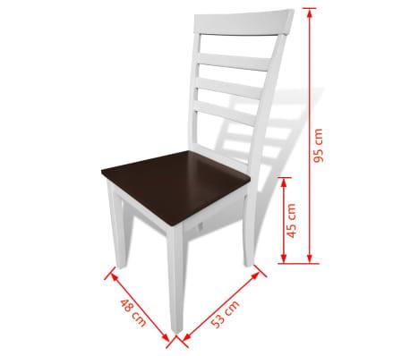 Esszimmertisch Mit 6 Stühlen : ausziehbarer esszimmertisch mit 6 st hlen braun wei massivholz g nstig kaufen ~ Eleganceandgraceweddings.com Haus und Dekorationen