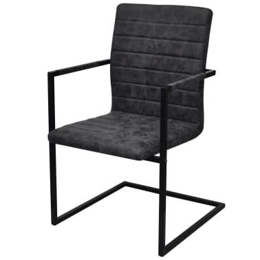 2 freischwinger esszimmerst hle mit armlehnen schwarz. Black Bedroom Furniture Sets. Home Design Ideas