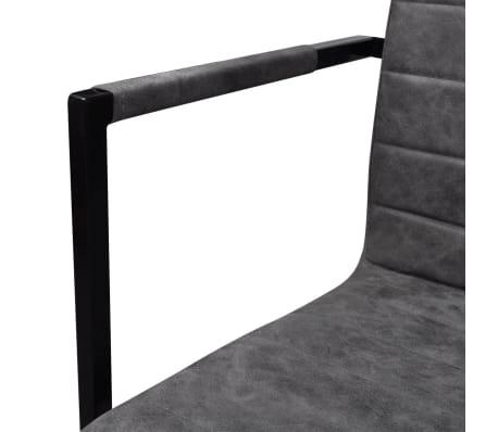 vidaXL Dining Chairs 2 pcs Cantilever Grey[5/8]
