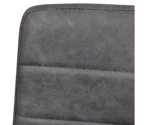 vidaXL Dining Chairs 2 pcs Cantilever Grey[7/8]