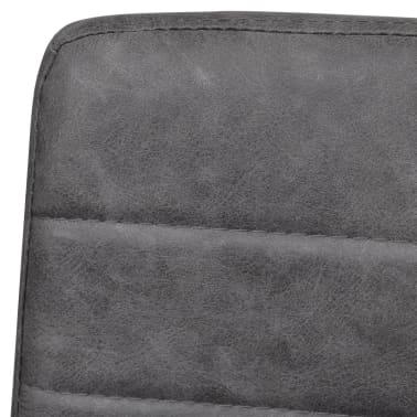 vidaXL Dining Chairs 2 pcs Cantilever Grey[6/8]