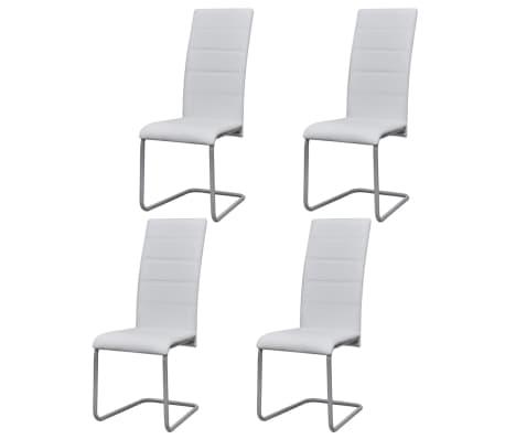 vidaXL Konzolne blagovaonske stolice od umjetne kože 4 kom bijele