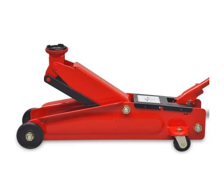 vidaXL Cric de plancher hydraulique à profile bas 3 tonnes Rouge[3/6]