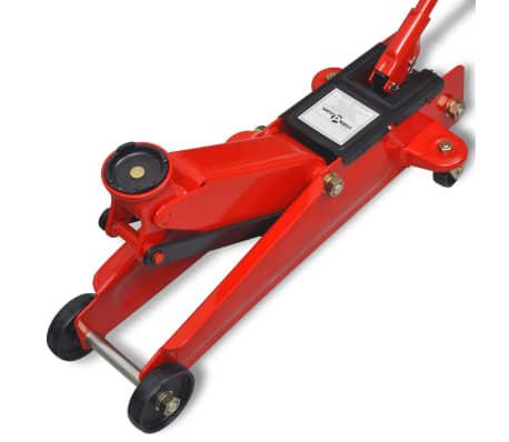 vidaXL Cric de plancher hydraulique à profile bas 3 tonnes Rouge[4/6]