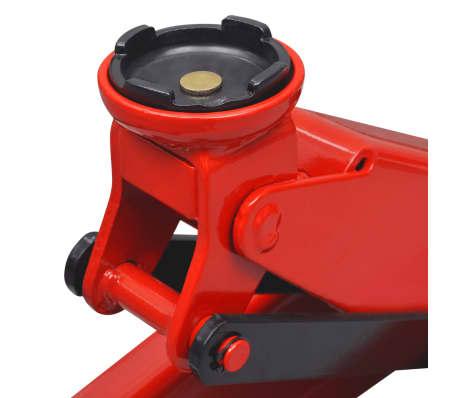 vidaXL Cric de plancher hydraulique à profile bas 3 tonnes Rouge[5/6]
