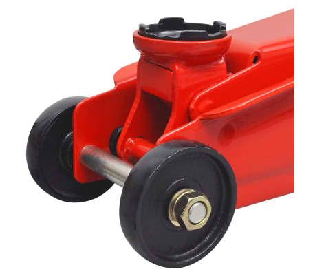 vidaXL Cric de plancher hydraulique à profile bas 3 tonnes Rouge[6/6]