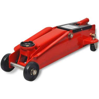 vidaXL Cric de plancher hydraulique à profile bas 3 tonnes Rouge[2/6]