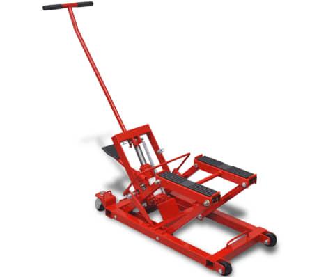 vidaXL Cric hydraulique de moto / VTT 680 kg Rouge[1/6]