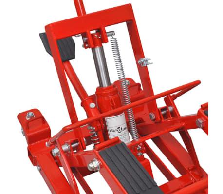vidaXL Gato hidr/áulico ATV para motocicletas rojo 680 kg