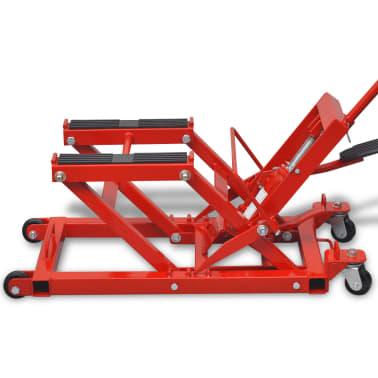 vidaXL Cric hydraulique de moto / VTT 680 kg Rouge[5/6]