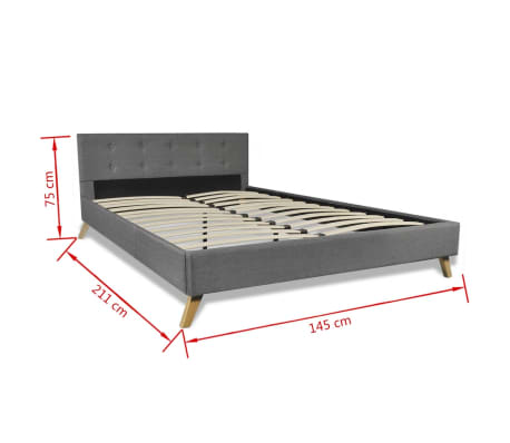 vidaxl bett mit matratze 140 200 cm stoff hellgrau g nstig kaufen. Black Bedroom Furniture Sets. Home Design Ideas