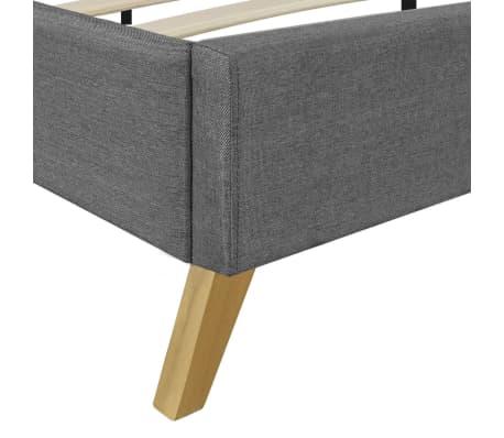 hellgraues bett 200 x 180 cm holz mit stoffbezug memory matratze zum schn ppchenpreis. Black Bedroom Furniture Sets. Home Design Ideas