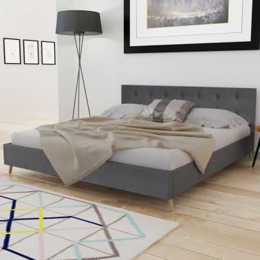 acheter lit bois 180cm tissu gris fonc matelas surmatelas m moire pas cher. Black Bedroom Furniture Sets. Home Design Ideas