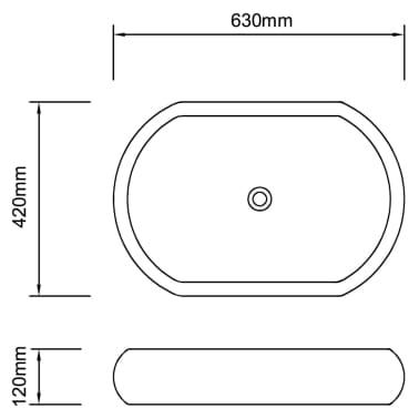 Lavandino da bagno in ceramica ovale nero - Lavandino bagno nero ...