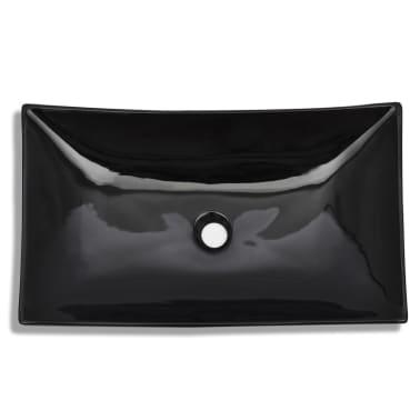 Keramik Waschbecken rechteckig schwarz[3/6]