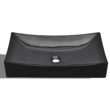Keramik Waschbecken rechteckig schwarz[4/6]