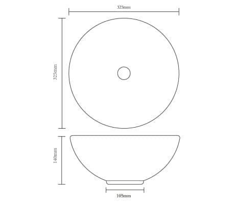 Keramik Waschbecken rund weiß[5/6]