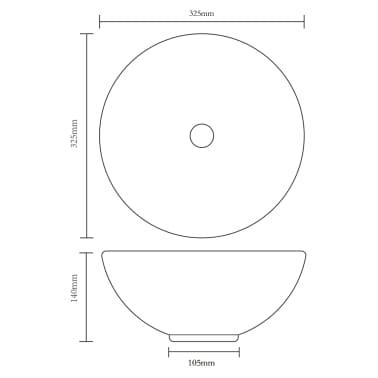 vidaXL Lavabo de cuarto de baño redondo cerámica blanco[5/6]