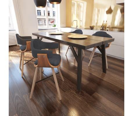4 x bugholz esszimmerst hle mit stoffbezug g nstig kaufen. Black Bedroom Furniture Sets. Home Design Ideas