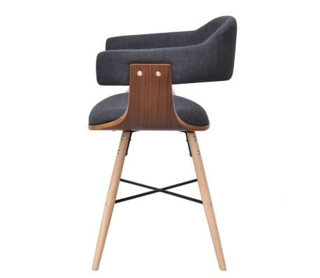 acheter 6 chaises en bois cintr avec rev tement en tissu pas cher. Black Bedroom Furniture Sets. Home Design Ideas