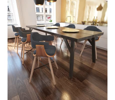 6 x bugholz esszimmerst hle mit stoffbezug g nstig kaufen. Black Bedroom Furniture Sets. Home Design Ideas