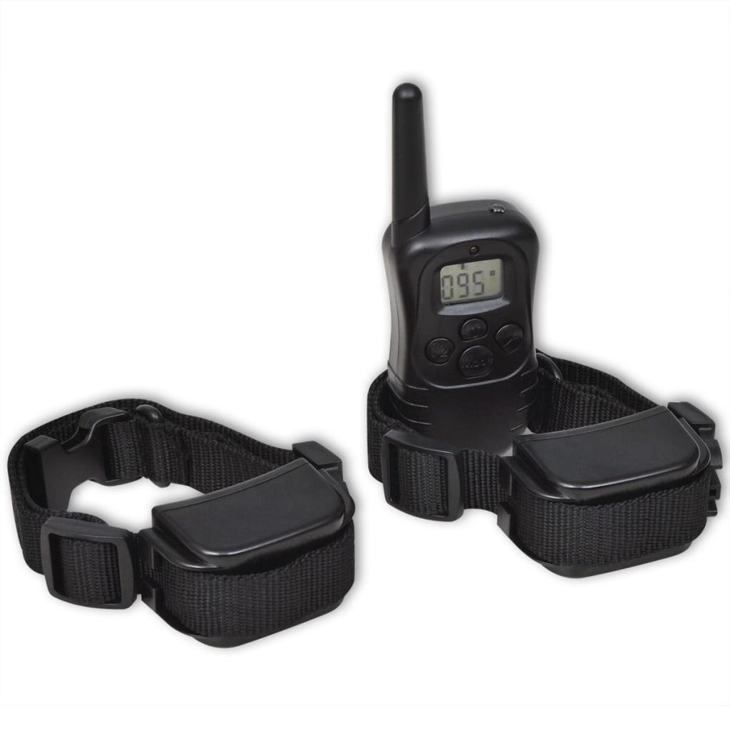 Dobíjecí elektronický komplet na výcvik psů 2 obojky, dálkové ovládání