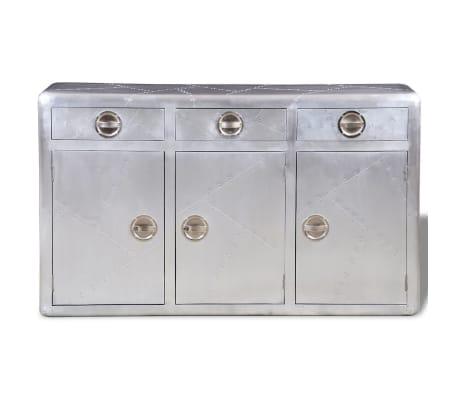 vidaXL aluminiumsskænk 3 skuffer vintagestil veteranfly[2/6]