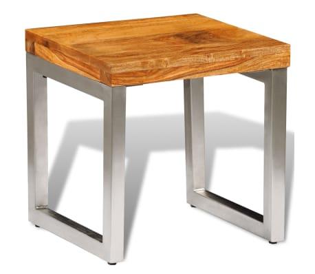 acheter vidaxl table basse bois massif de sesham pas cher. Black Bedroom Furniture Sets. Home Design Ideas