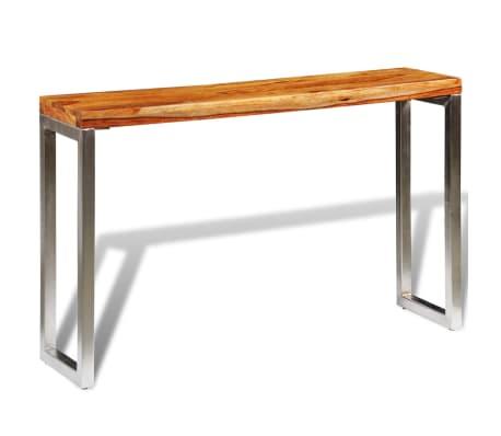 vidaXL Table console avec pieds en acier Bois