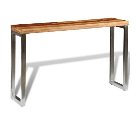 vidaXL Konsolinis staliukas su plien. koj., rausvos. dalbergijos med.[4/7]