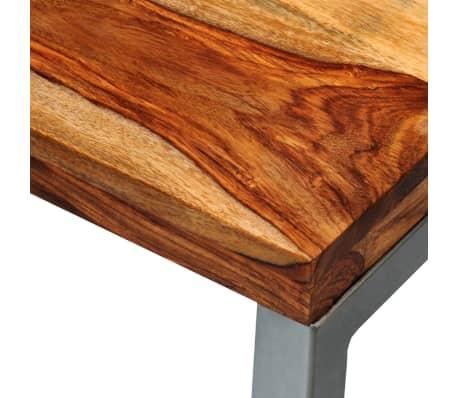 vidaXL Masă consolă din lemn masiv de sheesham cu picioare din oțel[6/7]